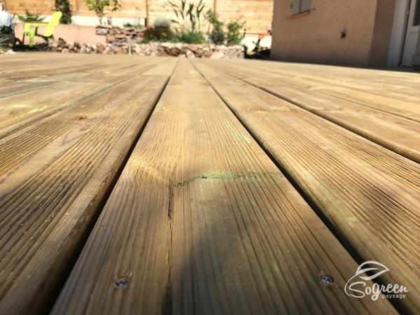 Terrasse en bois traité cl4 Fréjus 83600